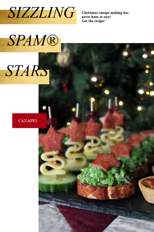 asy to make Christmas Canapes! #christmas #canape #peas #SPAM