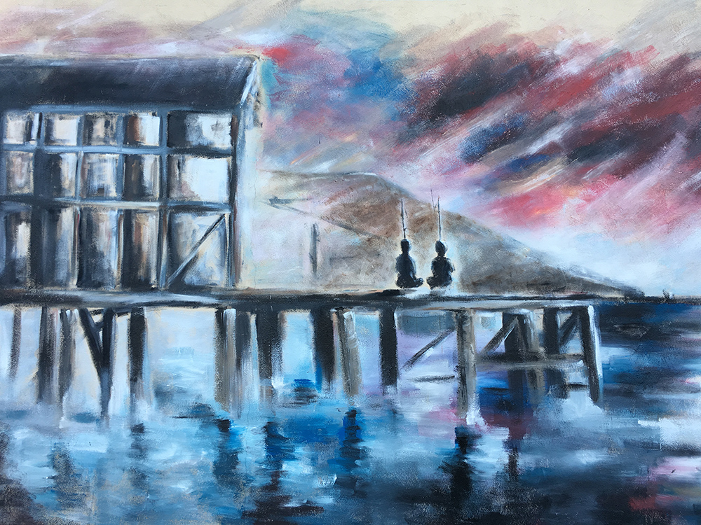 Sudureyri Iceland Painting