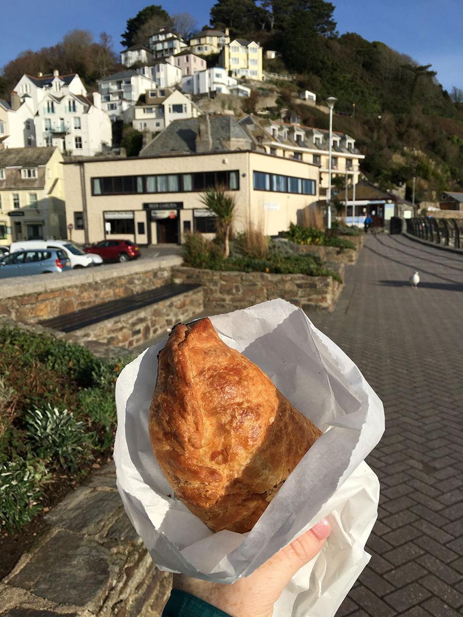 Traditional Cornish Pasty in Looe Cornwall