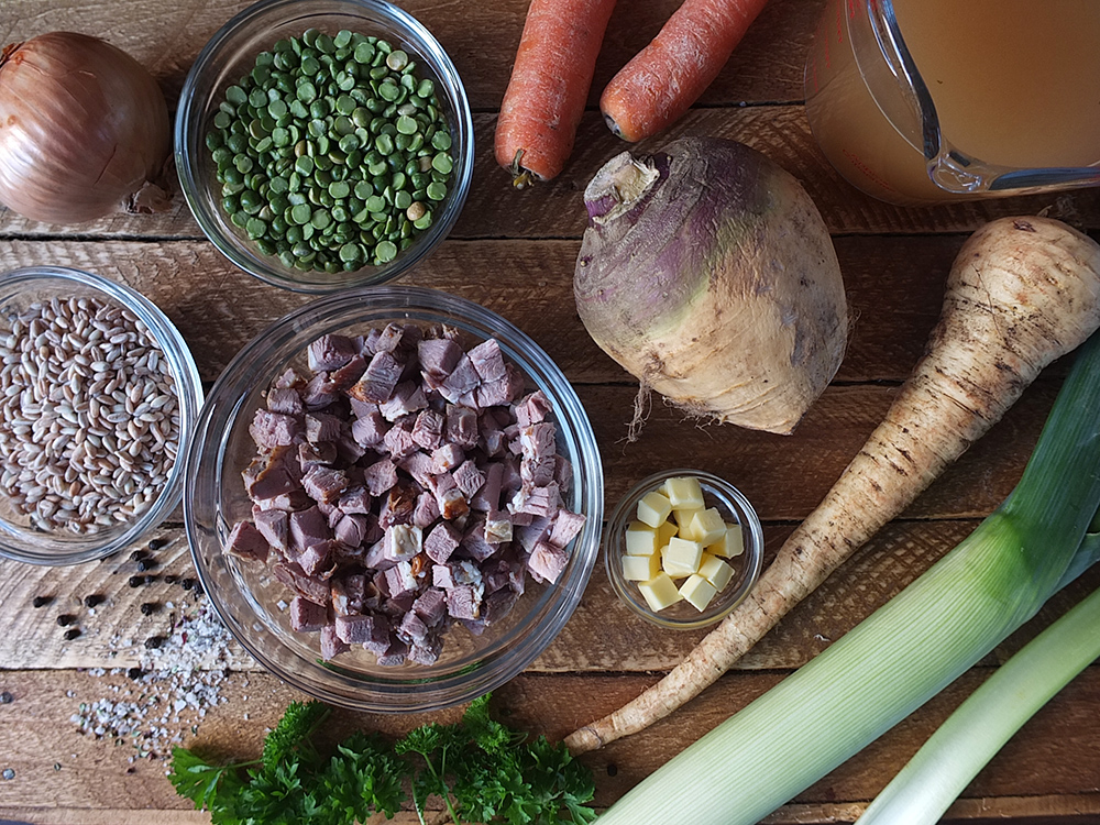 Ingredients for Leftover Lamb Soup