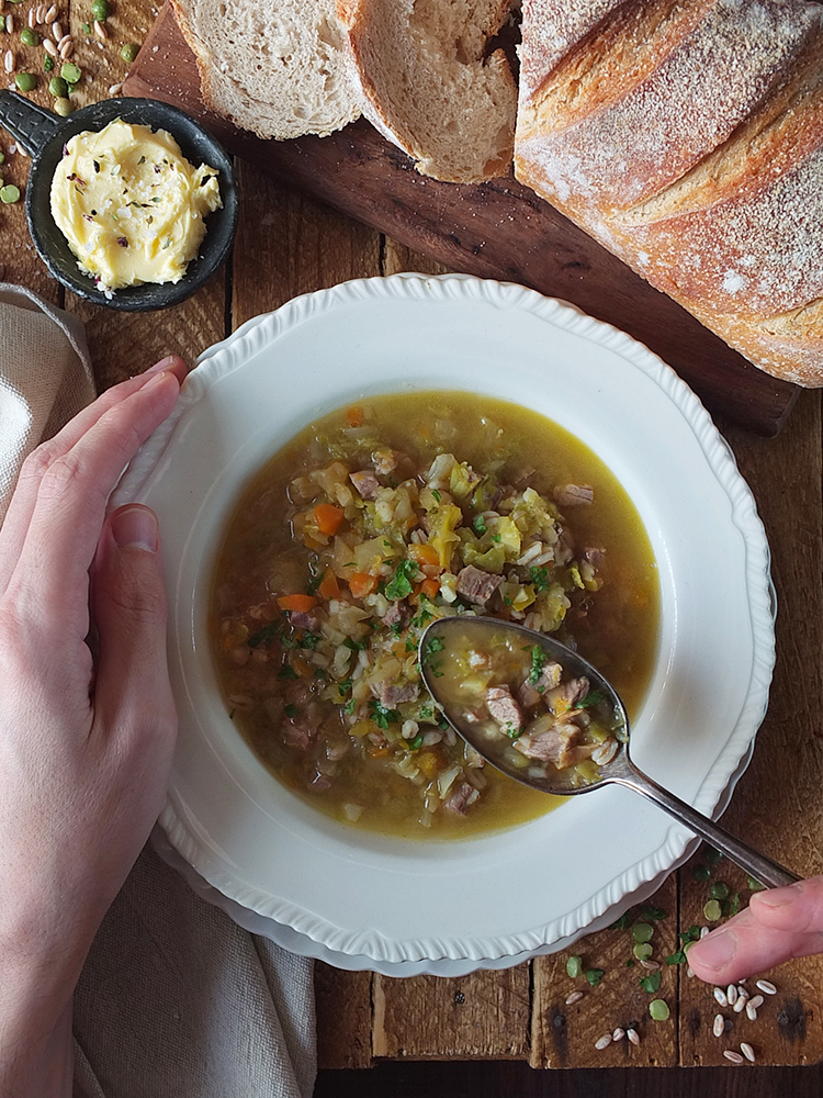 Leftover Lamb Soup