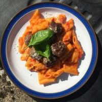 Highland Meatballs with Penne Pasta