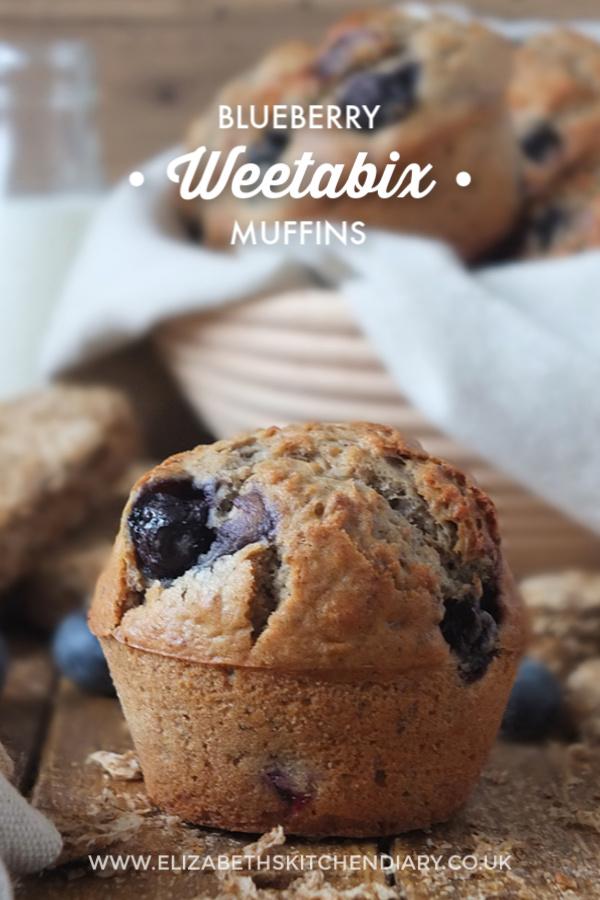 Blueberry Weetabix Muffins #breakfast #muffinrecipe #blueberrymuffins