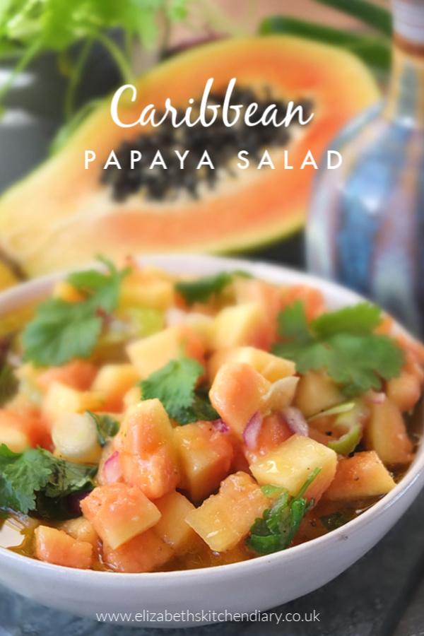 Caribbean Papaya Salad #fruitsalad #papaya #Caribbean