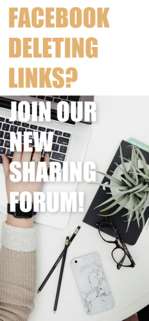 Fed up of Facebook deleting your links? It's getting increasingly difficult for us bloggers to share content with each other using that platform so we've come up with a FREE solution! #blogging #social media