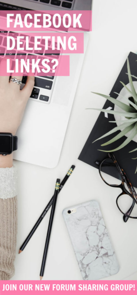 Fed up of Facebook deleting your links? It's getting increasingly difficult for us bloggers to share content with each other using that platform so we've come up with a FREE solution! #blogging #socialmedia