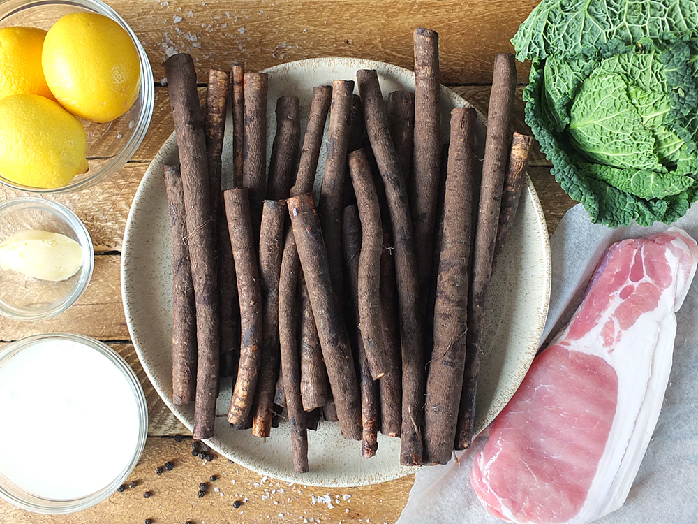 Low carb salsify side dish ingredients