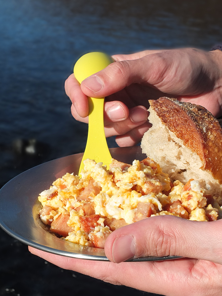 Camping SPAM and Eggs