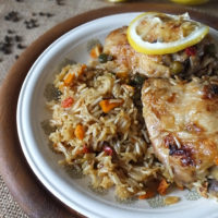 One Pot Lemon Pepper Chicken with Country Vegetable Rice