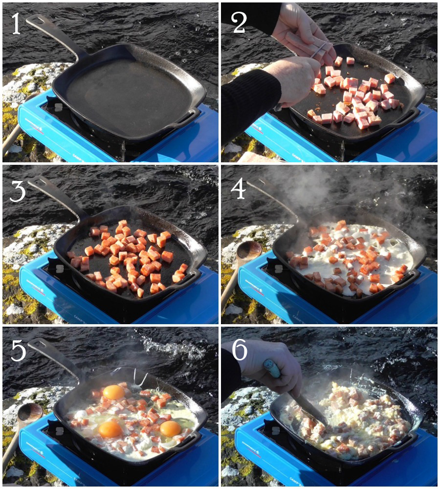 how to make camping spam and eggs recipe
