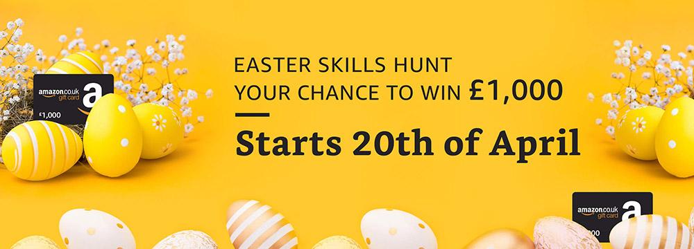 Amazon Easter Egg Hunt banner