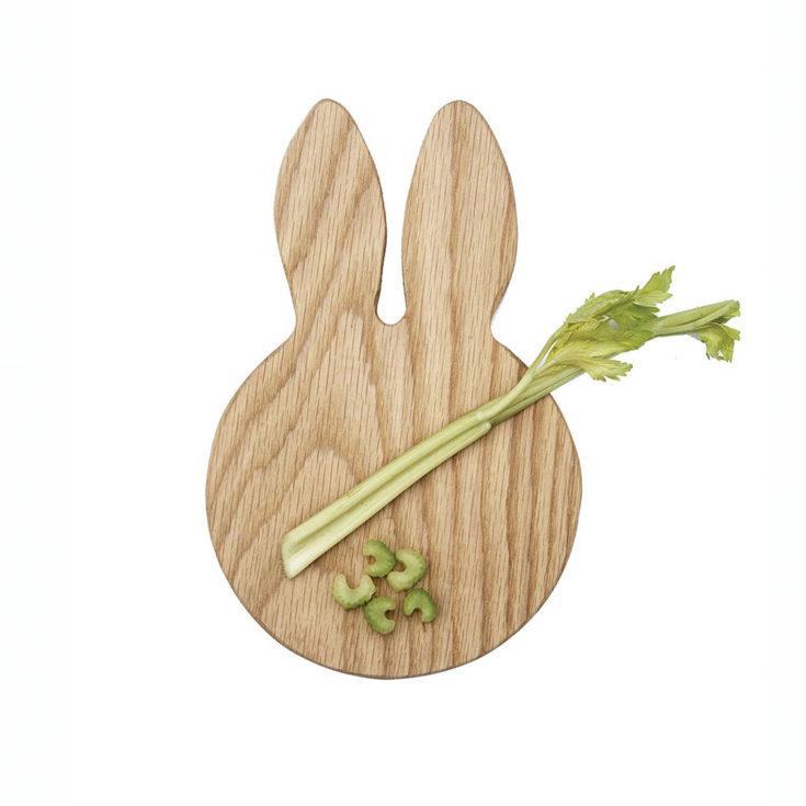 Handmade Wooden Oak Bunny Ears Treat Board £27.95