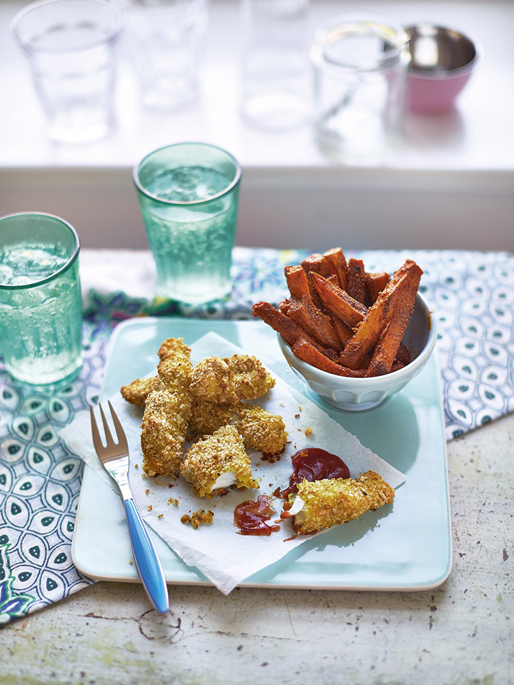 Curried fish fingers and sweet potato fries. Image credit: Tom Regester