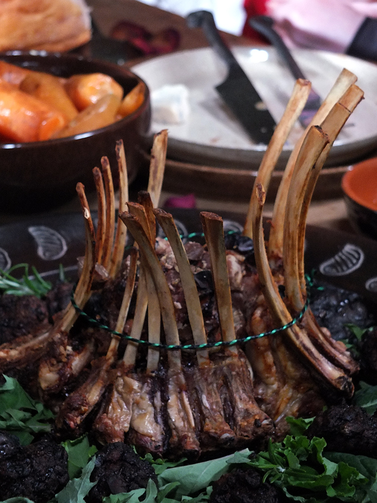 Game of Thrones Feast with a triple crown roast of lamb #gameofthrones #mediaevalfeast #lambroast