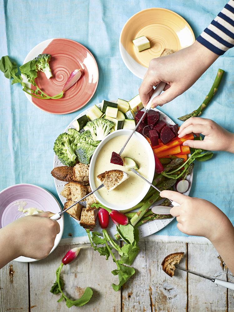 Healthier fondue with vegetables. Image credit: Tom Regester