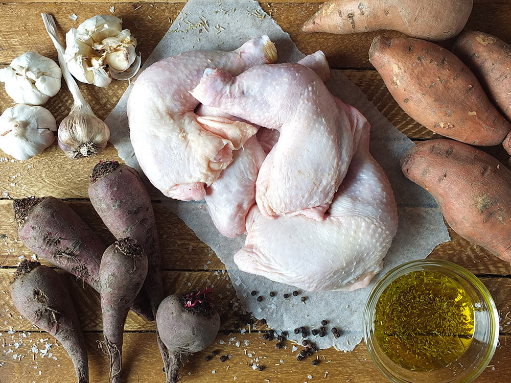 Ingredients for Garlic and Rosemary Chicken Traybake image