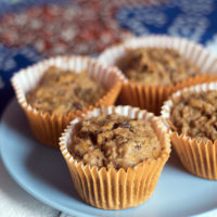 Healthy carrot muffins - vegan and nut free