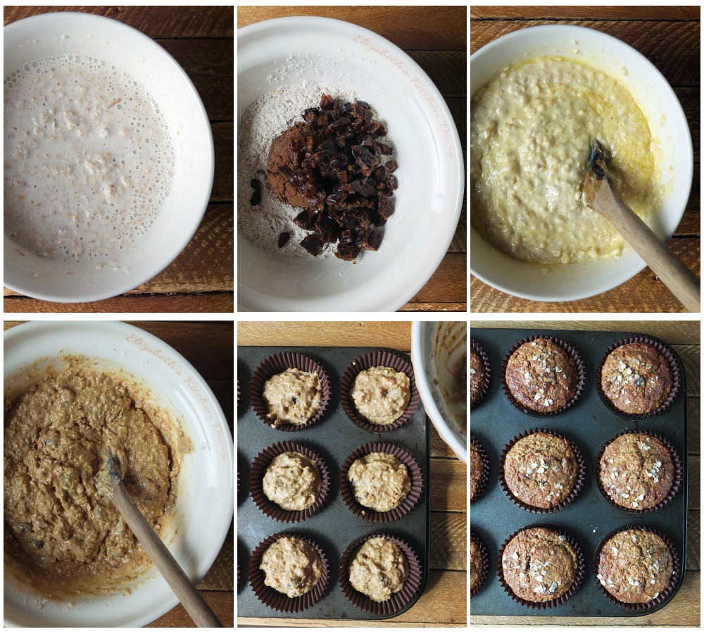 how to make date and oat muffins